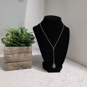 💎STERLING SILVER LARIAT NECKALCE WITH ONIX